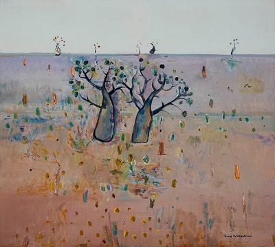 Fred Williams - Boab trees, Kimberley's, 1981