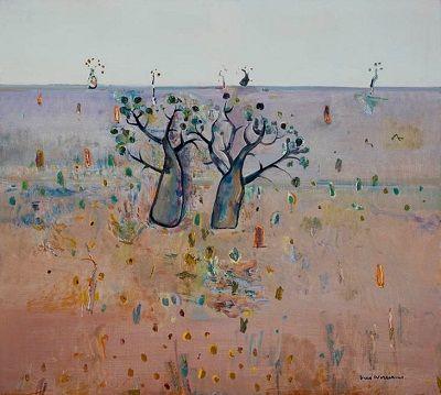 Fred Williams - Boab trees, Kimberley's, 1981