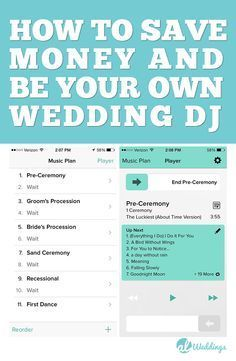how to save money at your wedding by being your own wedding dj i