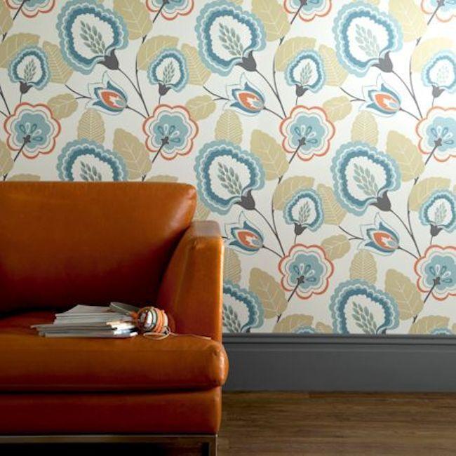 Showstopper wallpaper,  Orissa design by Clarke & Clarke. Available in 6 colours.  Wallpapershop.com.au