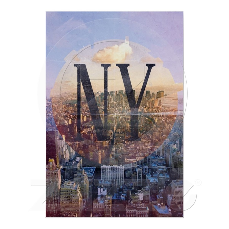 New York Cityscape Poster | Zazzle.co.uk
