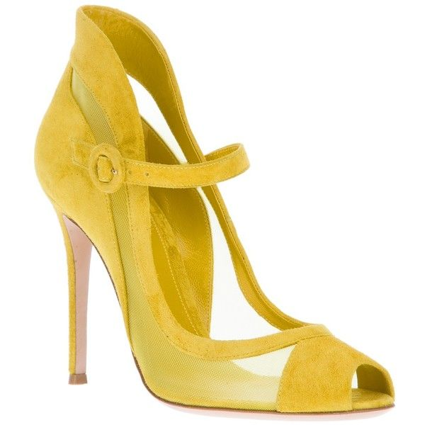 GIANVITO ROSSI peep toe pump found on Polyvore
