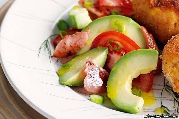 Салат из авокадо с беконом  #salad #салат