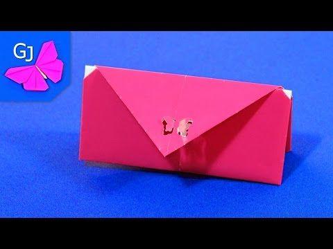 (2) Оригами Кошелек из бумаги - YouTube