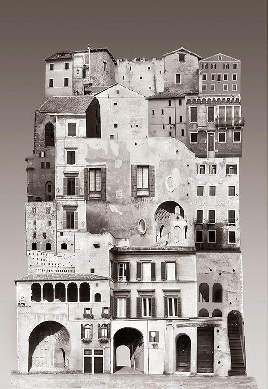 "Beautiful collages from Sweden based visual artist Anastasia Savinova at http://www.anastasiasavinova.com/ ""IT / Italy"""