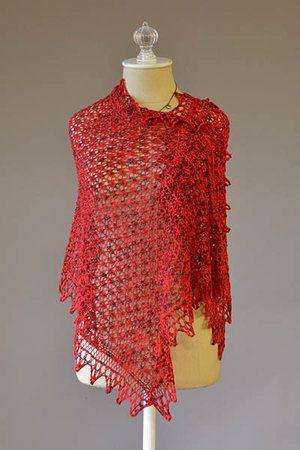 I Heart You Shawl Free Knitting Pattern
