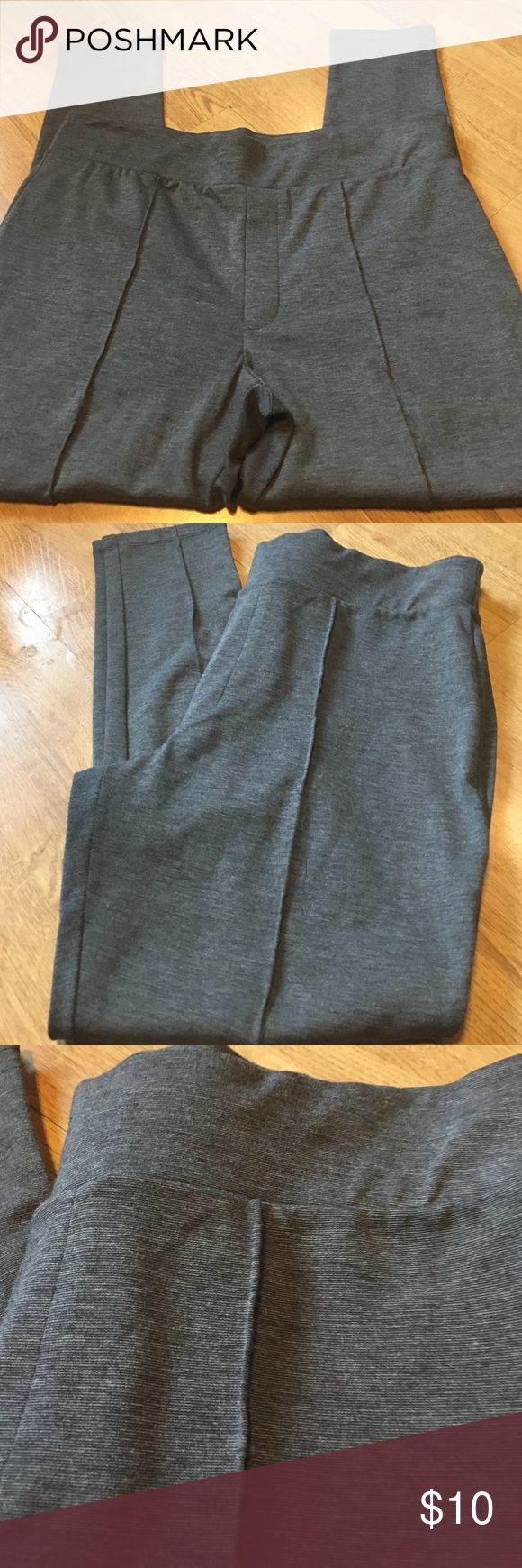 Nice charcoal leggings Charcoal gray seamed dress legging - size XL! These can be dressed up or made casual- well made and thicker material Pure Energy Pants Leggings