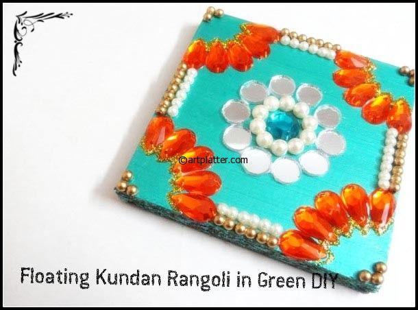 Wooden Rangoli with Kundans – Tutorial