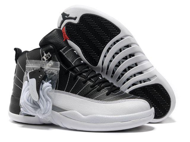 2013 New Playoff Black/White Air Jordan 12 Basketball Shoes Store