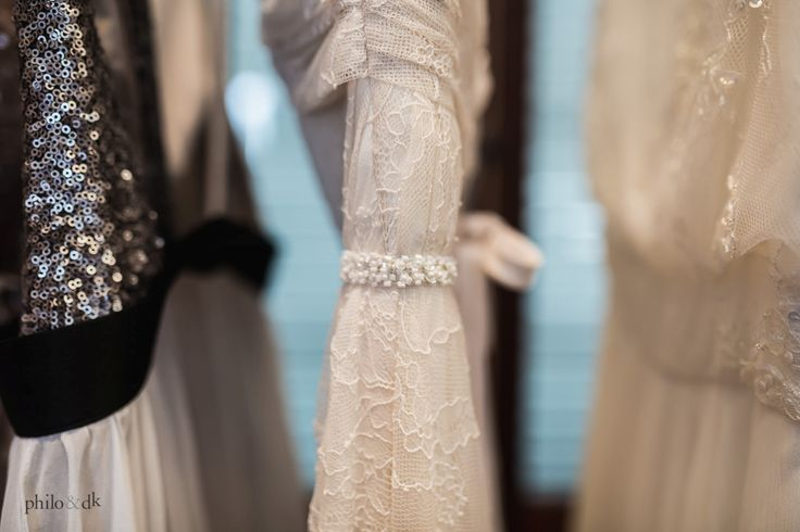Beautiful close up of the Truvelle and Charlie Brear gowns by @PhiloDK #Truvelle #Charlie_Brear #PhiloDK #FCL #Firstcomeslove #TTWD #Throughthewhitedoor
