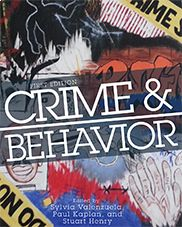 """""""Crime and Behavior"""" (First Edition) edited by Sylvia Valenzuela, Paul Kaplan, and Stuart Henry ISBN: 978-1-62131-539-1  This text combines theories of crime causation with their implications for key policy questions relevant to today's world. It integrates theory and contemporary issues, and provides encyclopedic readings by leading theorists of crime.  Learn more at https://titles.cognella.com/crime-and-behavior-9781621315391.html"""