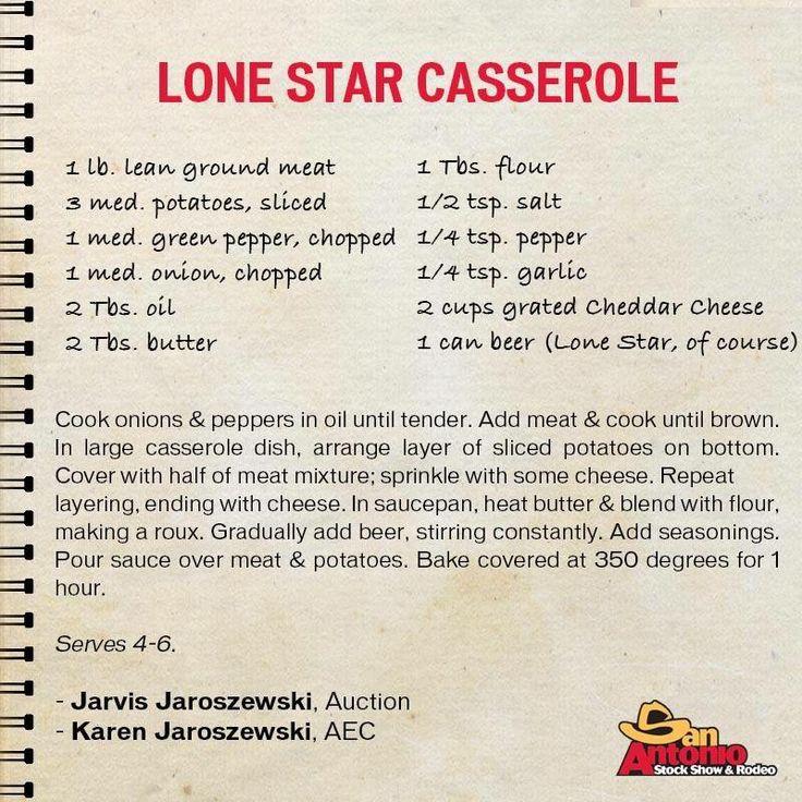 Lone Star Casserole: San Antonio Livestock Show & Rodeo