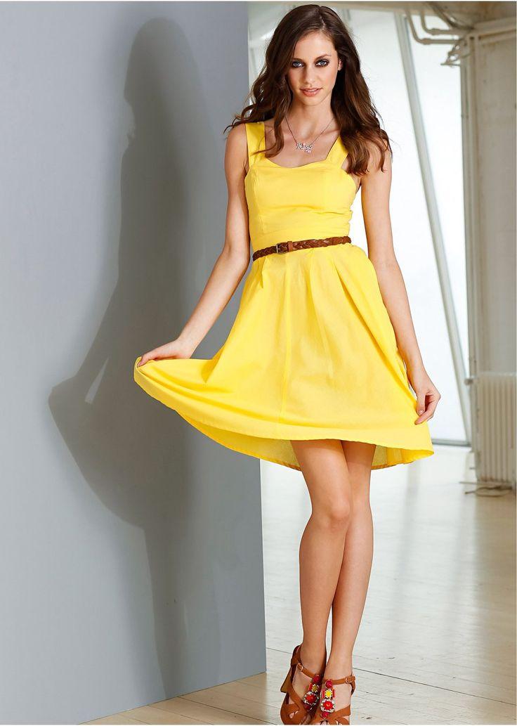 La robe jaune - RAINBOW - bonprix.fr