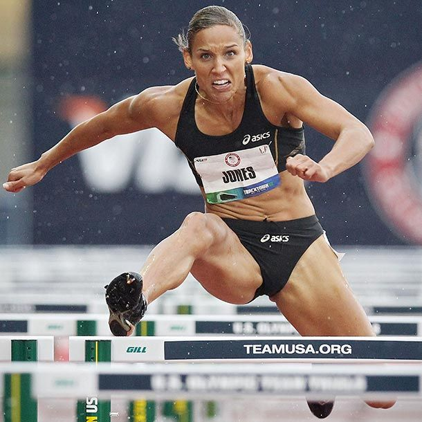 Intensity! And ridiculously low body fat..somewhere close to 10%. (Lolo Jones, Track & Field) Summer Olympics 2012 | Event: Womens Track and Field Olympic History: Jones, 29, competed in 2008s Beijing Games, but with disappointing results. She clipped the ninth hurdle in her…