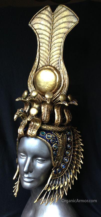 cleopatra-headdress-egyptian-costume. From Organic Armor.