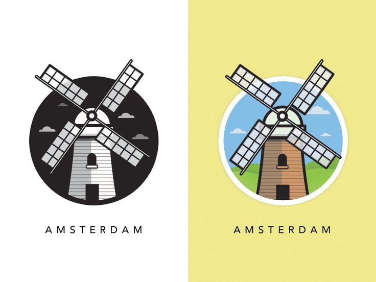 Windmill of Amsterdam by Al Power