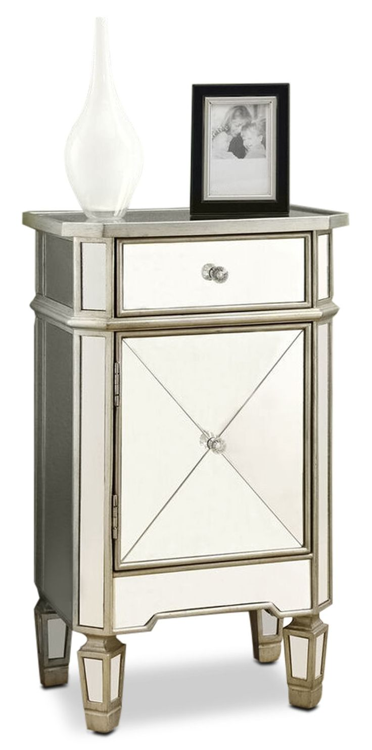 Accent and Occasional Furniture - Glen Accent Table - Mirrored Glass