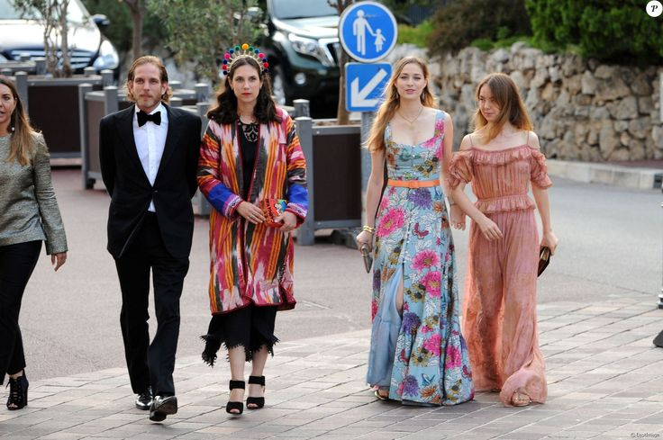 Andrea Casiraghi, Tatiana Santo Domingo, Beatrice Borromeo and Princess Alexandra of Hanover arrives for the fashion design award presentation ceremony held within the scope of the MC Fashion Week 2017 (MCFW17) at Oceanografisch Museum on 2 June 2017 in Monte-Carlo, Monaco