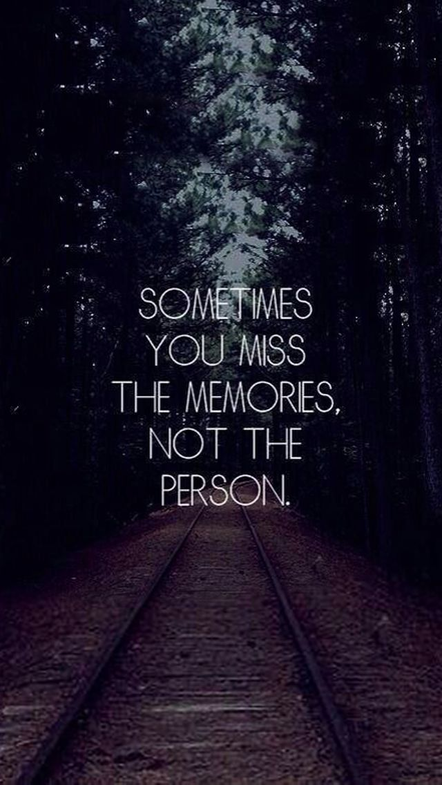 Tap on image for more inspiring quotes! Sometimes You Miss the Memories - mobile9 #iPhone5 #ParallaxWallpapers