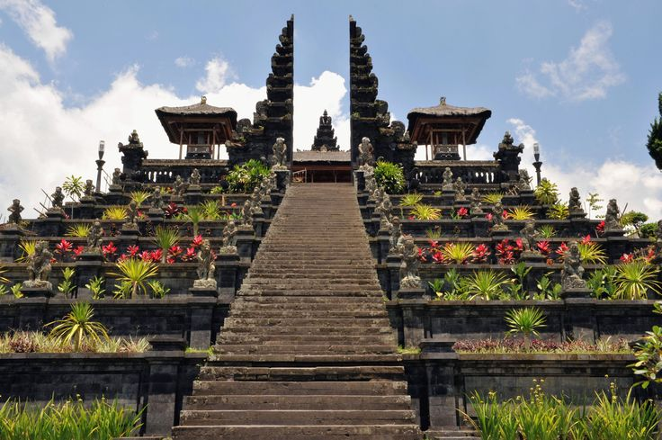 Pura Besakih is a temple complex in the village of Besakih on the slopes of Mount Agung in eastern Bali, Indonesia. It is the most important, the largest and holiest temple of Hindu religion in Bali, and one of a series of Balinese temples. #attraction #destination #temple #travel #bali