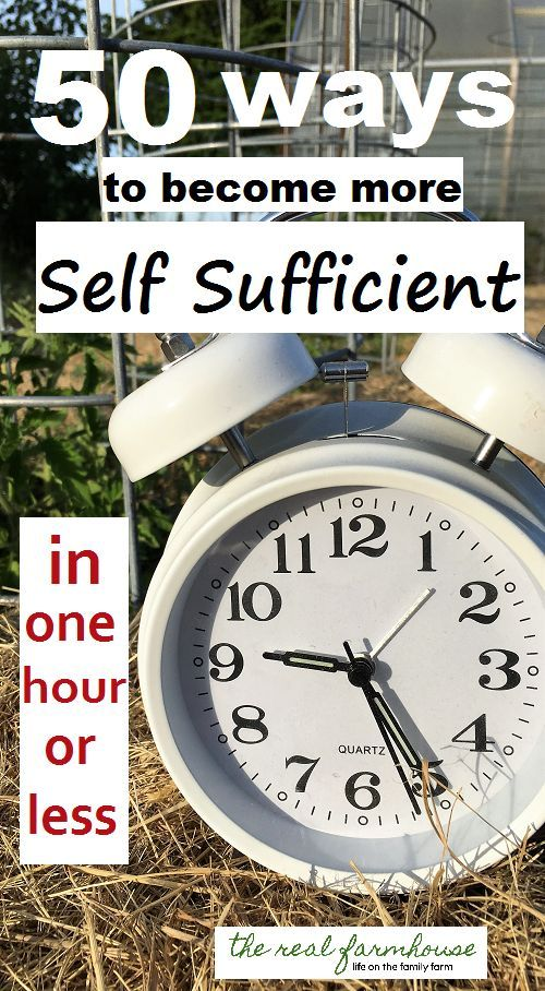 how to become more self sufficient