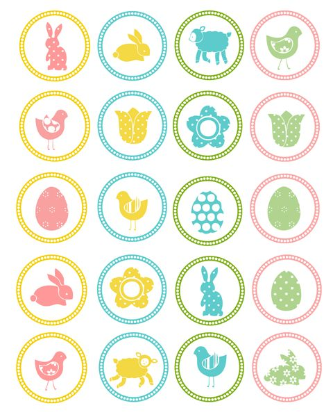 Free Easter Cupcake Toppers Printable. #Easter
