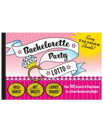 Bachelorette party lotto book of 100 scratch amp play games 11 95