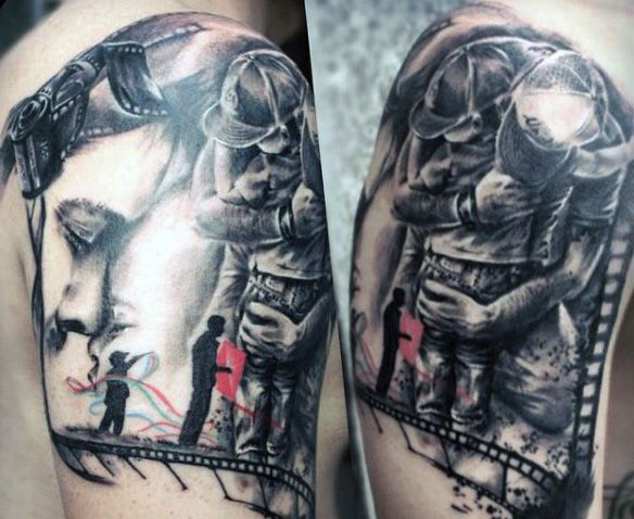 Half Sleeve Tattoos For Father And Son For Males