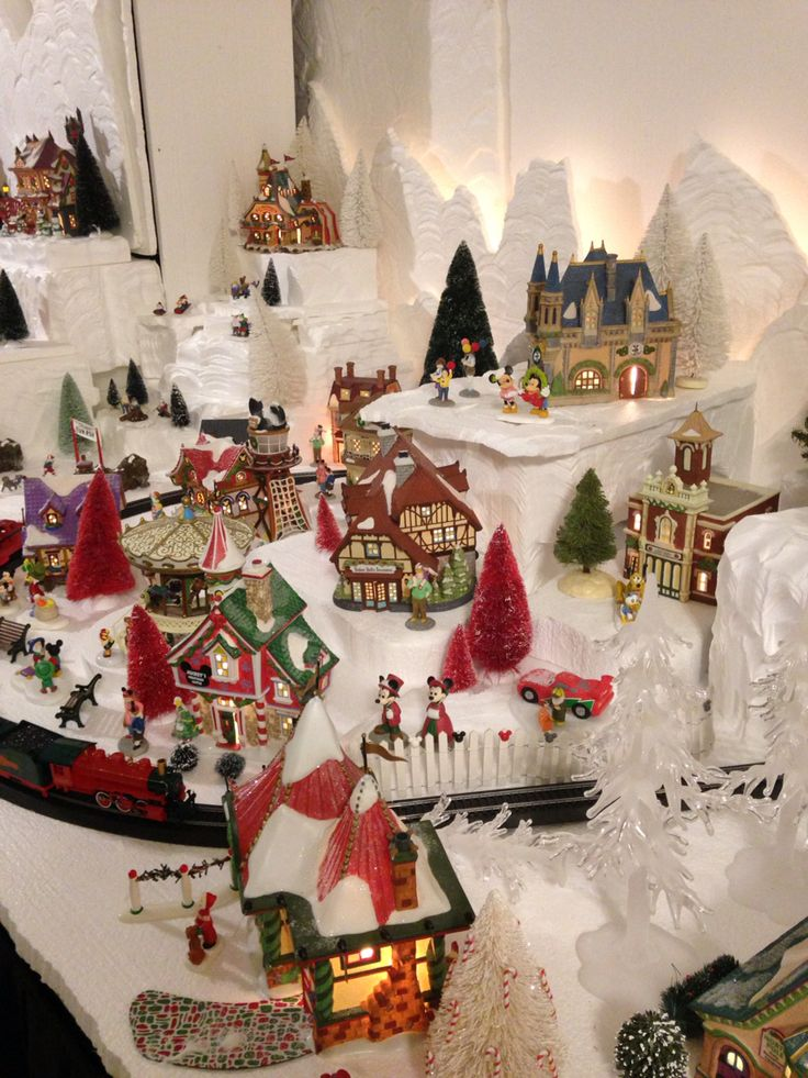 Department 56 North Pole- Disney series section of my 2015 Christmas village