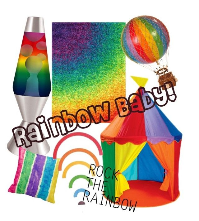 """""""Rainbow Nursery"""" by miss-lish on Polyvore featuring interior, interiors, interior design, home, home decor, interior decorating, Loloi Rugs, Universal Lighting and Decor, AM-Living and rainbowhome"""
