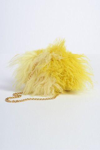 Fur Fluff Ball Ship fur shoulder bag