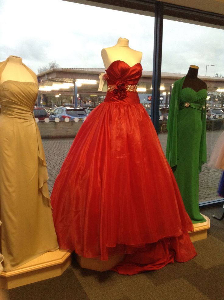 Red, gold and green! Prettiest dresses ever seen!