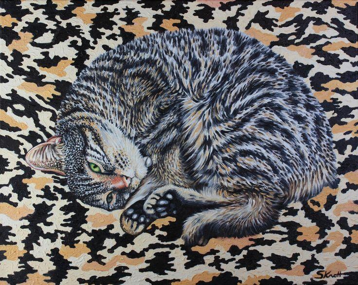 GIGI Cat Camp by knott #artist my pet Bengal mix cat for sale on my website simbird.com