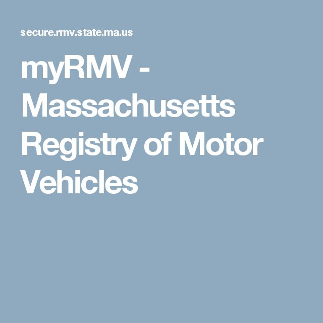 Massachusetts division of motor vehicles for Springfield registry of motor vehicles