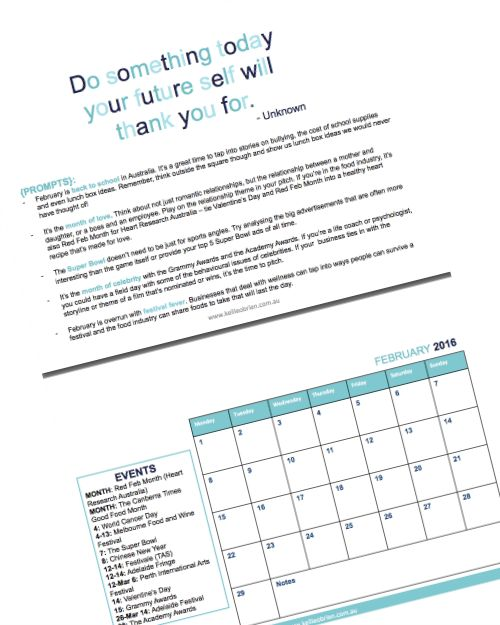 Grab a copy of your 2016 Public Relations Calendar to help generate year-round content for PR, marketing, blogging and social media.