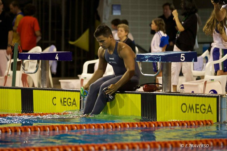 Mauricio Fernández, campeón mundial de natación con aletas en 50 metros superficie, en el 2015.