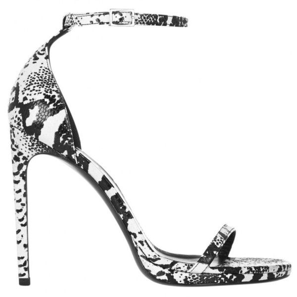 Pre-owned Saint Laurent Leather Sandal ($351) ❤ liked on Polyvore featuring shoes, sandals, other, women shoes sandals, black platform sandals, white high heel sandals, platform sandals, leather platform sandals and leather strap sandals