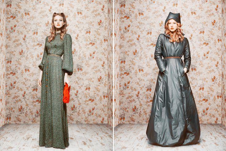 Ulyana Sergeenko, editor at Glamour Russia, photographer, and now fashion designerLong Dresses, Pretty Long, Coats Dresses, Babushka Written, Glamour Russia, Collection 2011, Left Dresses, Fashion Designers, Fall 2011