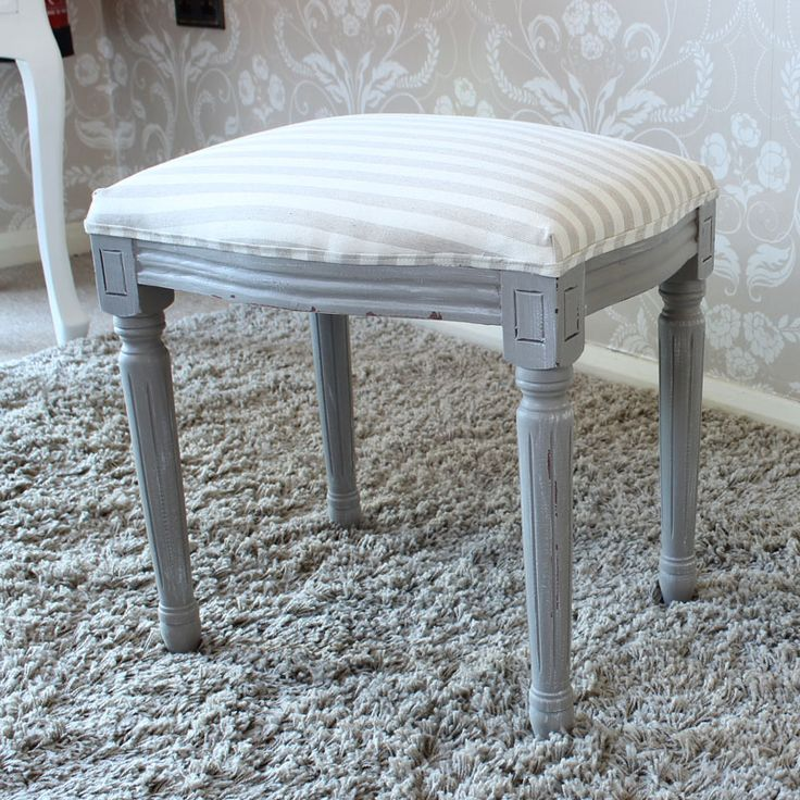 French Grey Range - Dressing Table Stool