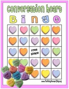 Conversation Heart Bingo! pinned by @PediaStaff – Please Visit http://ht.ly/63sNt for all our pediatric therapy pins