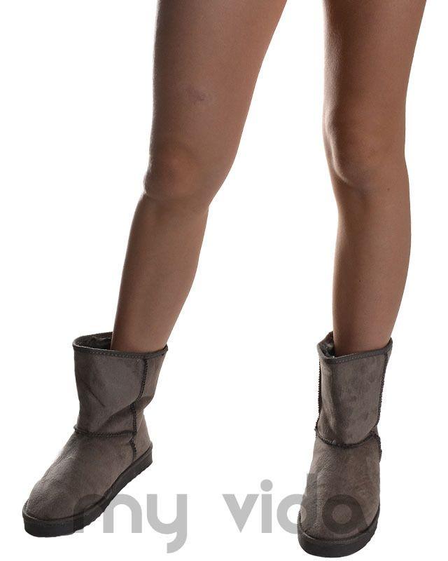 #Boots invernali #donna stivaletti #doposci in camoscio sintetico da abbinare sotto a #jeans, #pantaloni o #tute.