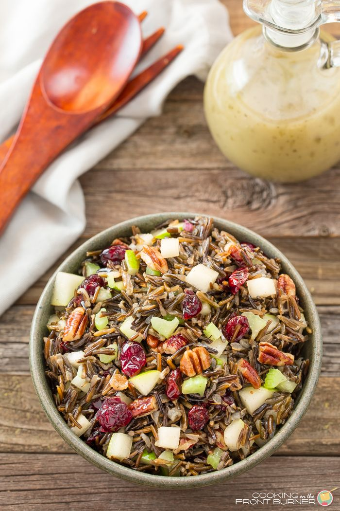 Wild Rice Salad with Pecans and Pears