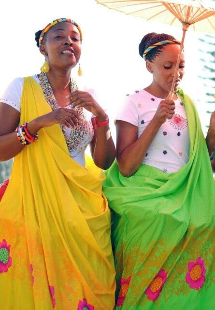 Shangaan people in South Africa are a people of bright colours