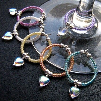 cute! make your own wine charms