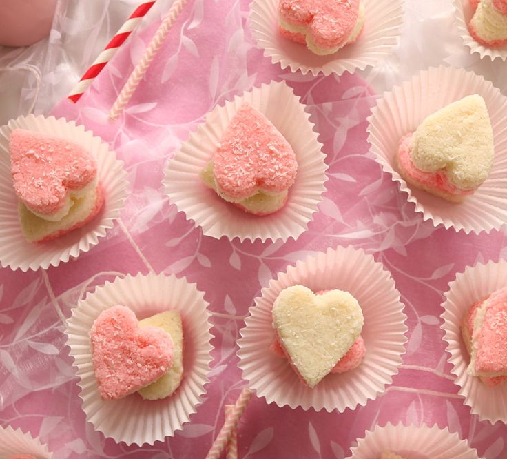 Vanilla & raspberry coconut ice love hearts. A cute gift for valentines day. Fun for kid's birthday parties & a sure sell at fetes, galas & fairs.