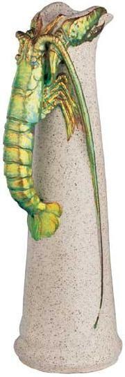 ZSOLNAY KANCSÓ RÁKKAL, ZSOLNAY, 1901, KAPÁS NAGY MIHÁLY MINTÁJA  Gres, a fülön zöld transzparens eozinmáz, Magasság: 36 cm F: 6511 Kikiáltási ár: 650 000 Ft