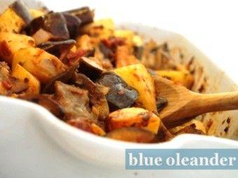 Sicilian eggplant and potato casserole