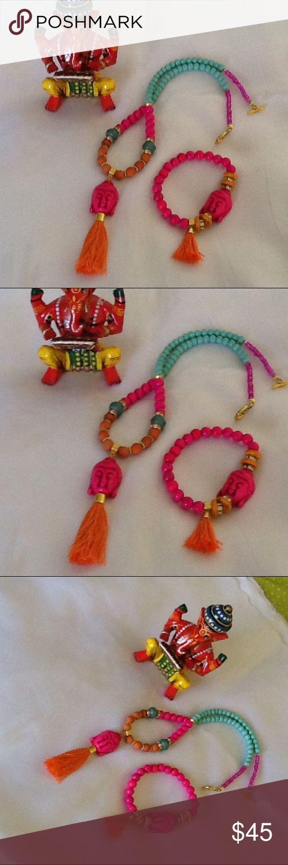 Handmade by me bohemian Buddha jewelry set🕉🕉🕉 Handmade Buddha jewelry set made with howlite beads , Czech opaque beads Jewelry Necklaces