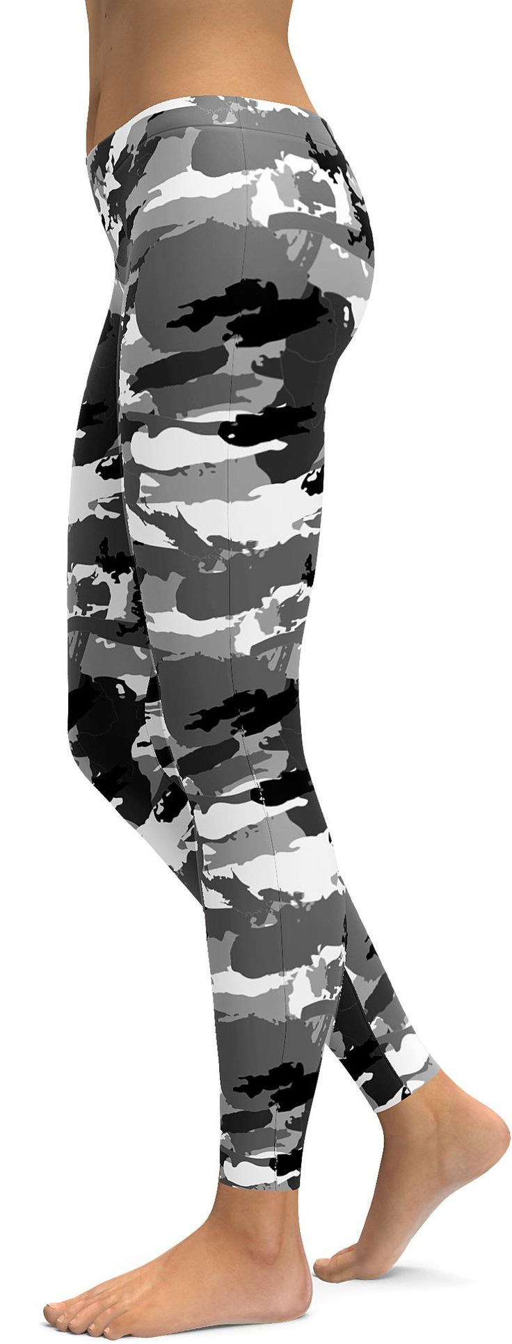 Black & White Camo Leggings - GearBunch Leggings / Yoga Pants
