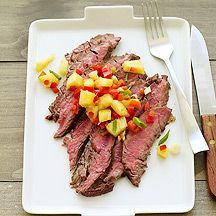 I made this tonight and it was fantastic!  Asian-Spiced Flank Steak with Pineapple-Pepper Salsa